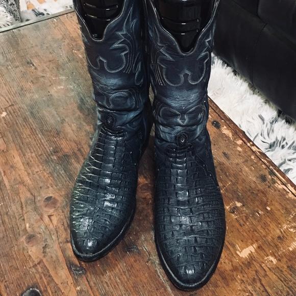 d445d260195 T.O. Stanley Hornback Lizard Boots 9D